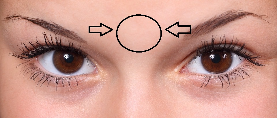 Relieve Headache - Slightly pinch the spot between your eyebrows