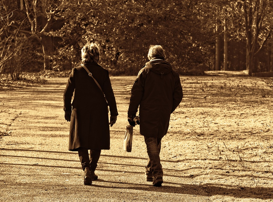 Couple Walking Silently