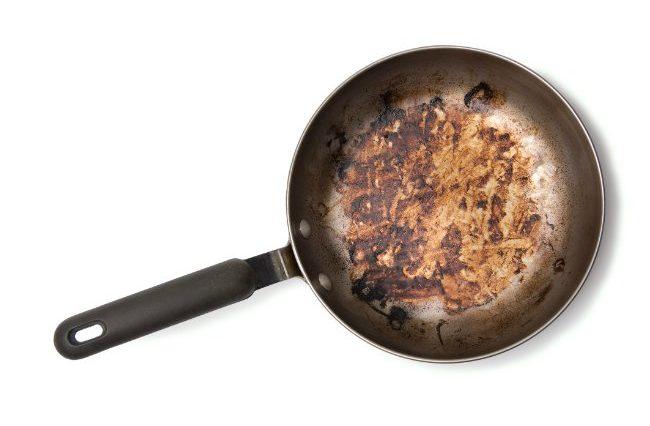 Clean Burnt Pots and Pans