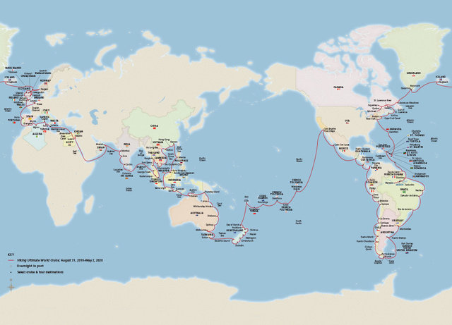8-month cruise route