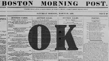 Ever wondered where the word OK came from?